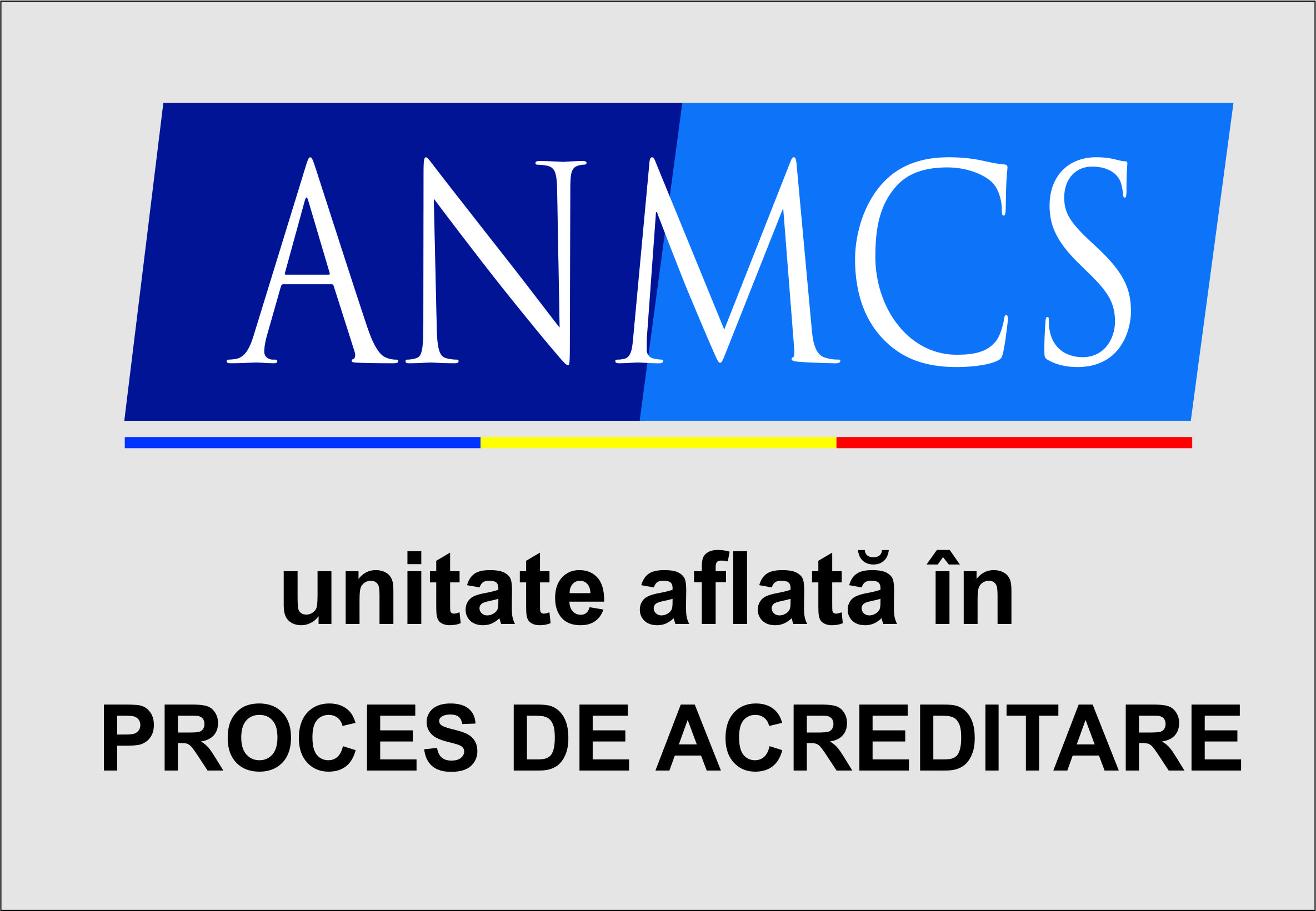 Logo unitate in proces de acreditare